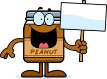 Sinal da manteiga de amendoim dos desenhos animados Imagens de Stock