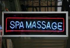 Sinal da massagem Imagens de Stock