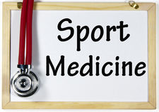 Sinal da medicina de esporte Imagem de Stock Royalty Free