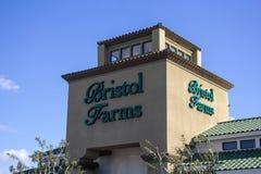 Sinal da mercearia de Bristol Farms fotografia de stock royalty free