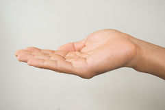 Sinal da mão do homem Fotos de Stock