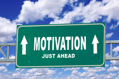 Sinal da motivação Imagem de Stock Royalty Free