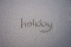 Sinal da palavra do feriado Foto de Stock
