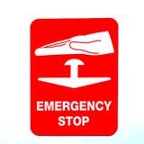 Sinal da parada de emergência Imagens de Stock Royalty Free
