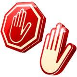 sinal da Parar-mão Fotografia de Stock Royalty Free