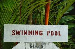 Sinal da piscina imagem de stock