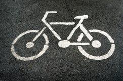 Sinal da pista da bicicleta Fotografia de Stock