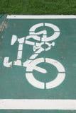 Sinal da pista de bicicleta Fotografia de Stock