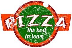 Sinal da pizza Fotografia de Stock