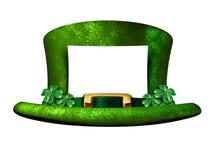 Sinal da placa do chapéu do trevo Imagens de Stock