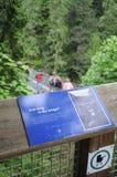 Sinal da ponte de Capilano Imagens de Stock Royalty Free