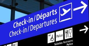 Sinal da porta do aeroporto, programação de vôo, linha aérea, Europa, Fotos de Stock Royalty Free