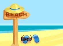 Sinal da praia Imagens de Stock Royalty Free