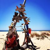 Sinal da praia Imagem de Stock Royalty Free