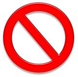 Sinal da proibição Imagens de Stock