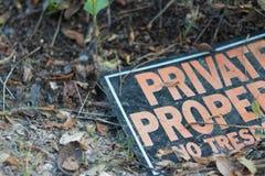 Sinal da propriedade privada Foto de Stock