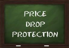 Sinal da proteção da queda dos preços no quadro Fotografia de Stock Royalty Free