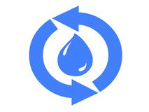 Sinal da purificação de água Fotografia de Stock Royalty Free