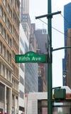Sinal da Quinta Avenida Imagens de Stock Royalty Free
