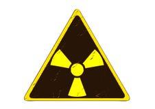 Sinal da radiação Fotografia de Stock Royalty Free