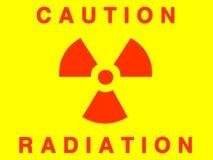 Sinal da radiação ilustração do vetor