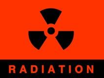Sinal da radiação ilustração royalty free