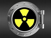 Sinal da radiação Fotografia de Stock