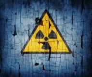 Sinal da radiação Foto de Stock