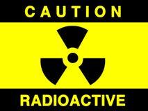Sinal da radiação Imagem de Stock
