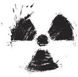 Sinal da radioactividade Fotos de Stock