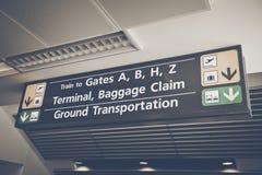 Sinal da reivindicação de bagagem Foto de Stock