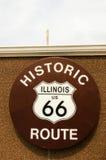 Sinal da rota 66 de Illinois Foto de Stock