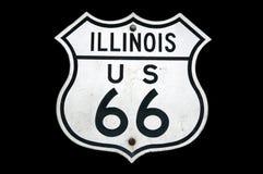 Sinal da rota 66 de Illinois Imagem de Stock Royalty Free