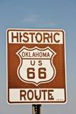 Sinal da rota 66 de Oklahoma Foto de Stock