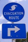Sinal da rota da evacuação Fotos de Stock Royalty Free