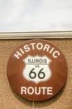 Sinal da rota 66 de Illinois Fotografia de Stock