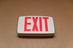 Sinal da saída de emergência Imagem de Stock
