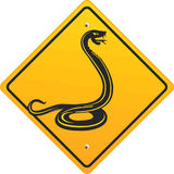 Sinal da serpente Fotografia de Stock Royalty Free