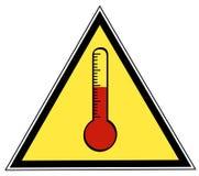 Sinal da temperatura ilustração royalty free