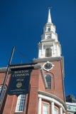 Sinal da terra comum de Boston foto de stock royalty free
