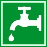 Sinal da torneira de água ilustração royalty free
