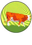 Sinal da vaca Foto de Stock