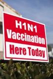 Sinal da vacinação H1N1 Imagens de Stock Royalty Free