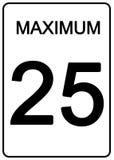 Sinal da velocidade de Maximun Imagens de Stock Royalty Free