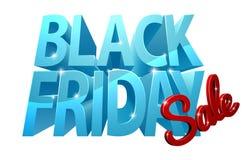 Sinal da venda 3D de Black Friday Imagens de Stock Royalty Free