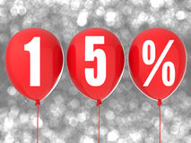 sinal da venda de 15% Imagens de Stock