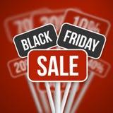 Sinal da venda de Black Friday com Black Friday Vect borrado disconto Fotos de Stock