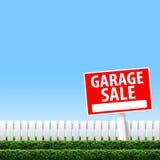 Sinal da venda de garagem Imagem de Stock Royalty Free
