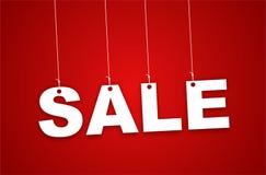 Sinal da venda que haning com fita Imagem de Stock Royalty Free