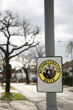 Sinal da vigilância de bairro Fotos de Stock Royalty Free